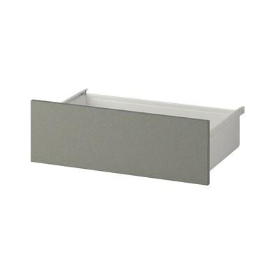 KLUBBUKT Drawer, grey-green, 60x42x20 cm