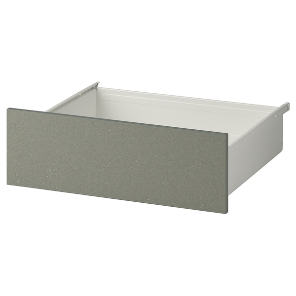 KLUBBUKT Drawer, white/grey-green, 60x57x20 cm