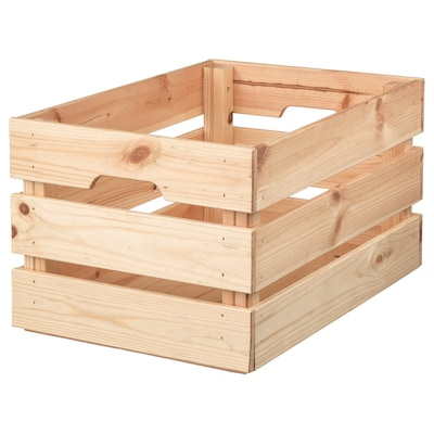 KNAGGLIG Box, pine, 46x31x25 cm