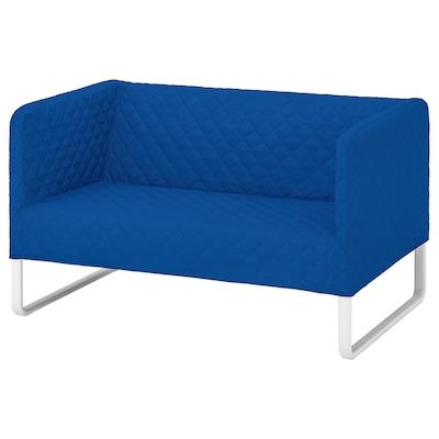 KNOPPARP 2-seat sofa Knisa bright blue 119 cm 76 cm 69 cm 21 cm 69 cm 108 cm 54 cm 39 cm