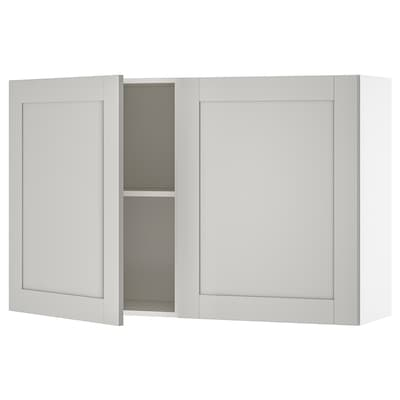 KNOXHULT wall cabinet with doors grey 120.0 cm 31.0 cm 75.0 cm