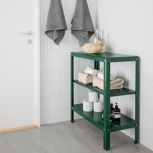 KOLBJÖRN shelving unit in/outdoor green 80 cm 35 cm 81 cm 25 kg
