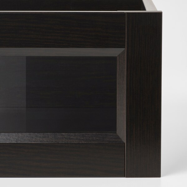 KOMPLEMENT Drawer with framed glass front, black-brown, 100x58 cm