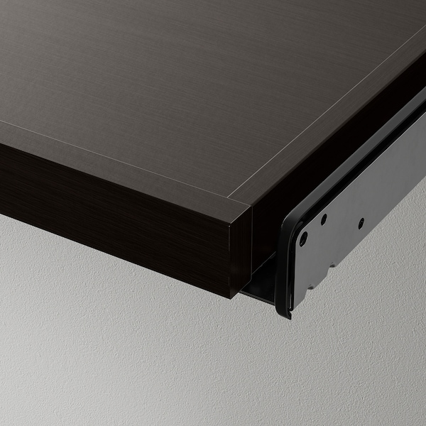 KOMPLEMENT Pull-out tray with divider, black-brown/light grey, 75x58 cm