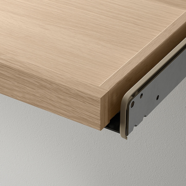 KOMPLEMENT Pull-out tray with divider, white stained oak effect/light grey, 100x58 cm