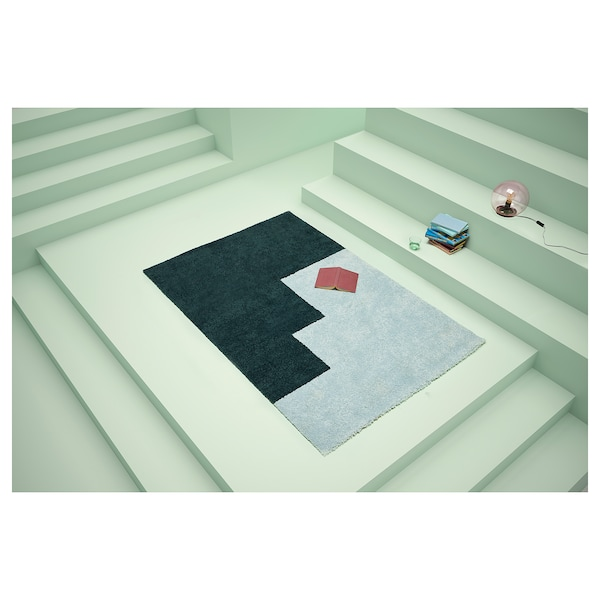 KONGSTRUP rug, high pile light blue/green 195 cm 133 cm 17 mm 2.59 m² 2500 g/m² 1490 g/m² 14 mm