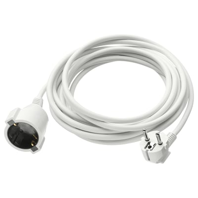 KOPPLA Extension cord, earthed white, 5 m