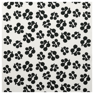 KORALLOXBÄR Fabric, white/black dark green, 150 cm