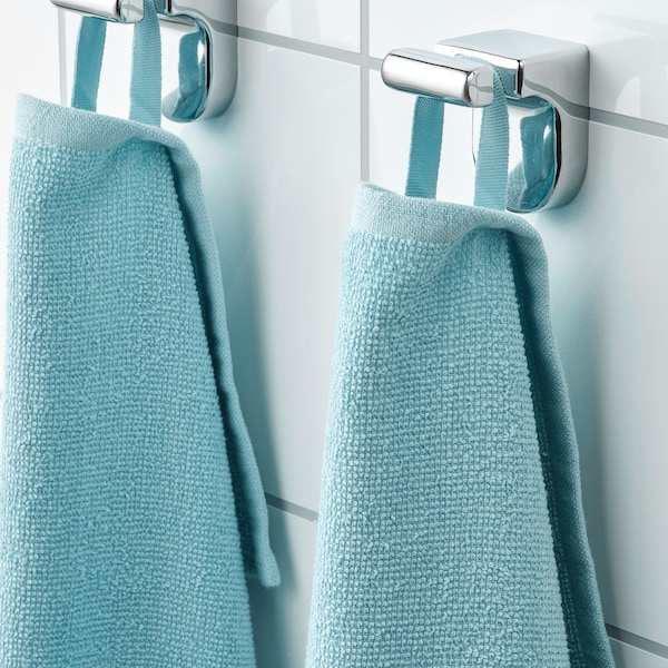 KORNAN Bath sheet, light blue, 100x150 cm