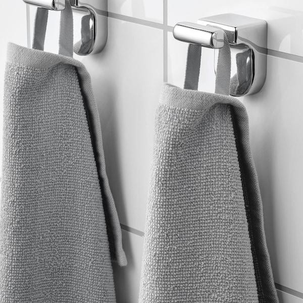 KORNAN Guest towel, grey, 30x50 cm