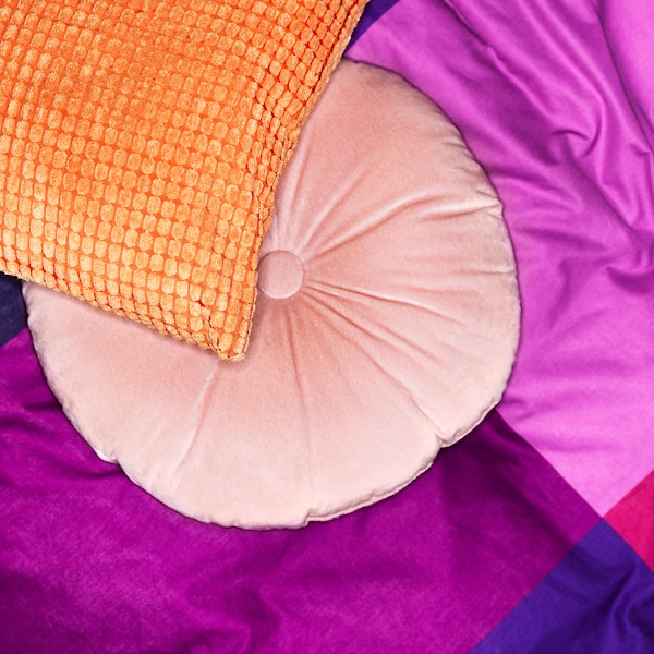 KRANSBORRE Cushion, light pink, 40 cm