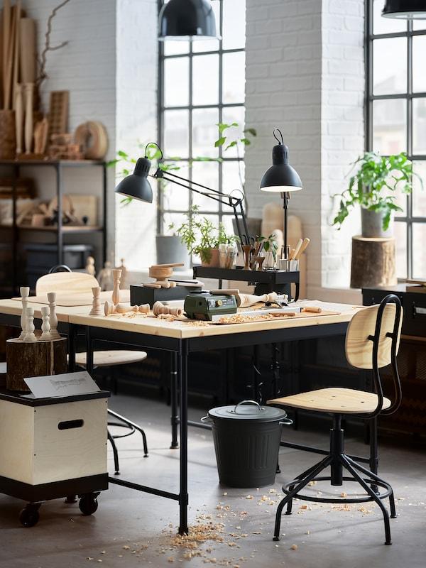 KULLABERG Desk, pine, 110x70 cm