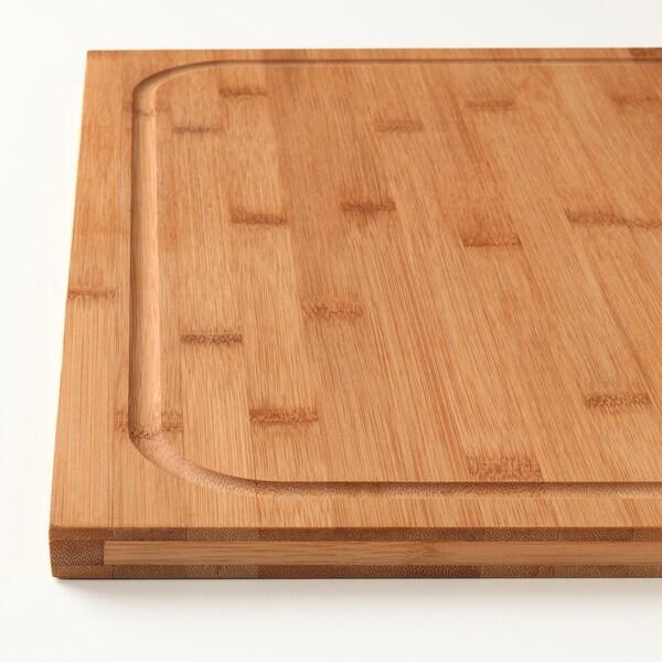 LÄMPLIG chopping board bamboo 46 cm 53 cm 18 mm