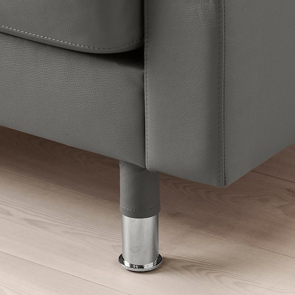 LANDSKRONA 2-seat sofa, Grann/Bomstad grey-green/metal