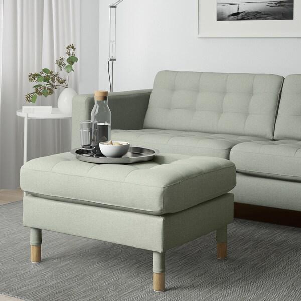 LANDSKRONA footstool Gunnared light green/wood 77 cm 65 cm 44 cm