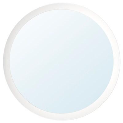 LANGESUND Mirror, white, 50 cm