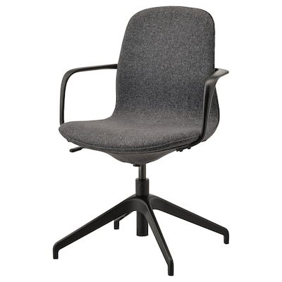 LÅNGFJÄLL conference chair with armrests Gunnared dark grey/black 110 kg 67 cm 67 cm 92 cm 53 cm 41 cm 43 cm 53 cm