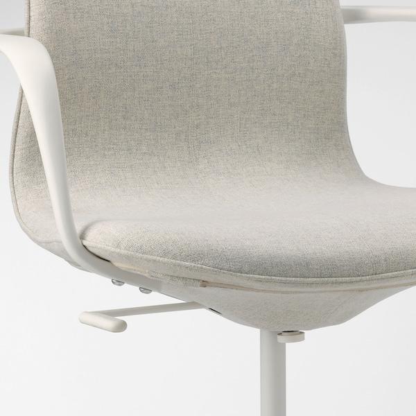 LÅNGFJÄLL office chair with armrests Gunnared beige/white 110 kg 68 cm 68 cm 104 cm 53 cm 41 cm 43 cm 53 cm