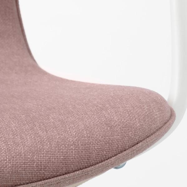 LÅNGFJÄLL office chair with armrests Gunnared light brown-pink/white 110 kg 68 cm 68 cm 92 cm 53 cm 41 cm 43 cm 53 cm