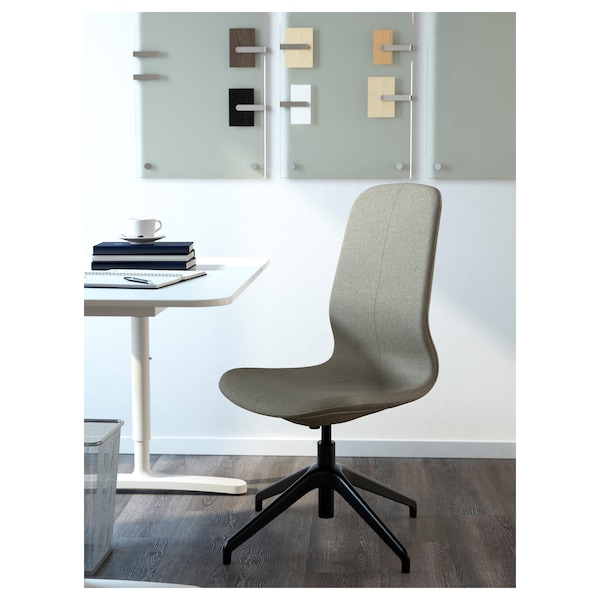 LÅNGFJÄLL Conference chair, Gunnared light green/black