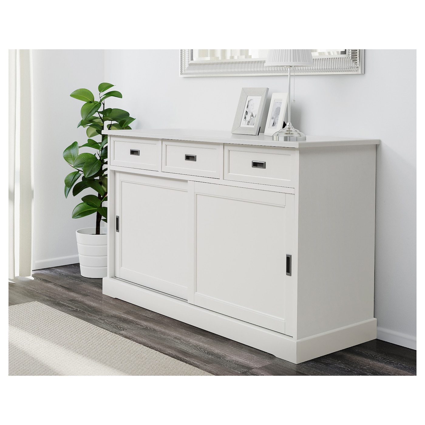Larsfrid Sideboard Basic Unit White Ikea