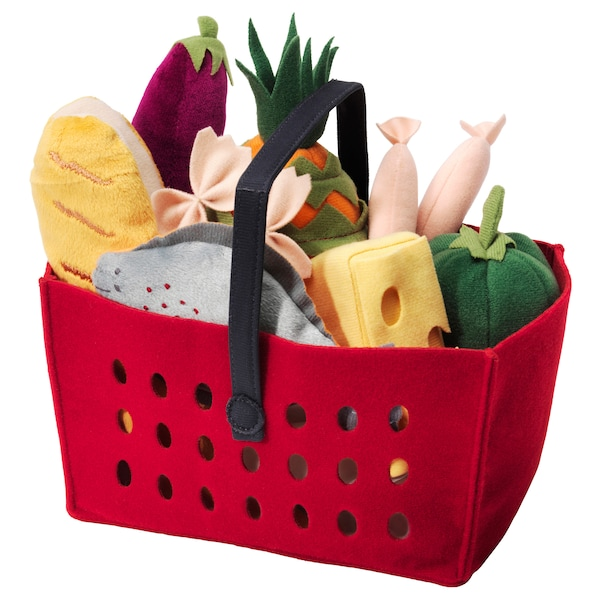 LÅTSAS 12-piece shopping basket set