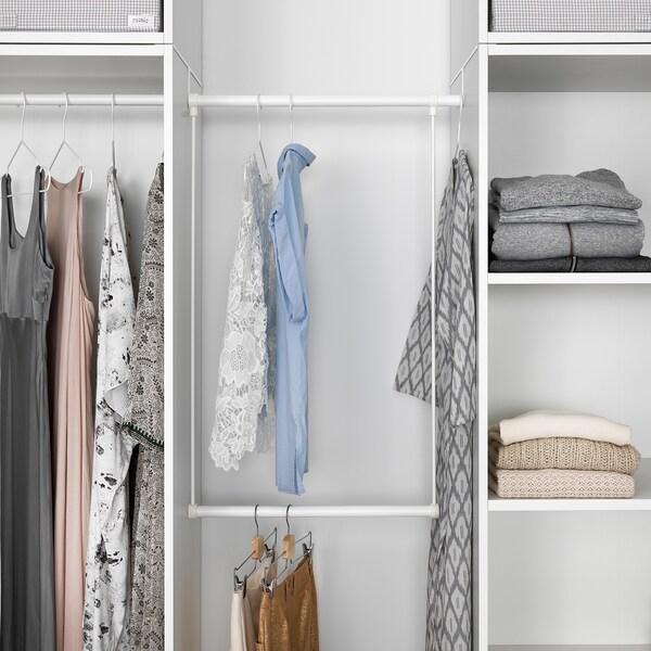 LÄTTHET Clothes rail for frame, white, 60-100x55 cm
