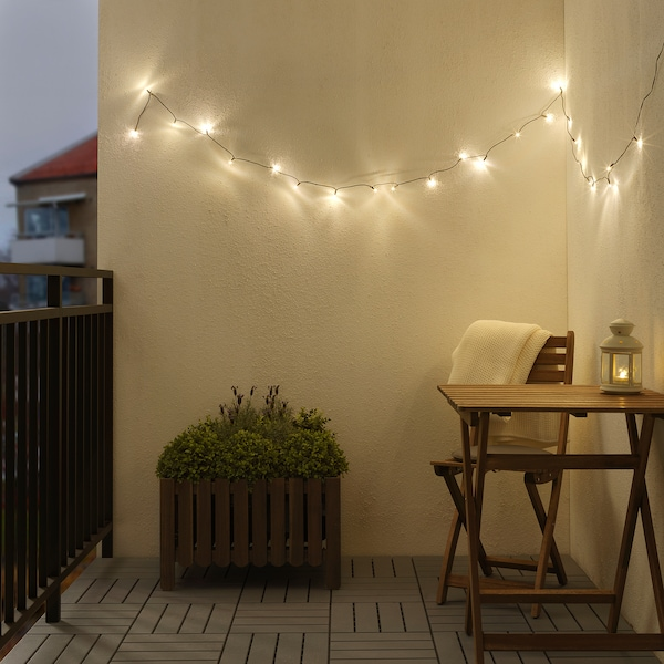 LEDLJUS LED lighting chain with 24 lights, outdoor black
