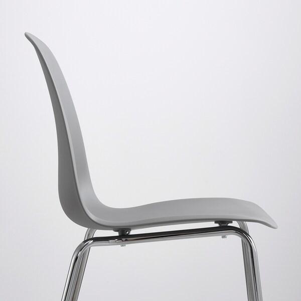 Eetkamer Stoel Ikea.Leifarne Chair Grey Broringe Chrome Plated Ikea