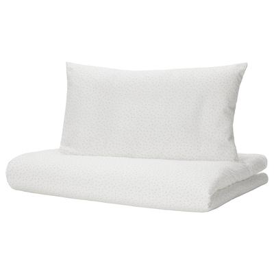 LEN Quilt cover/pillowcase for cot, 110x125/35x55 cm