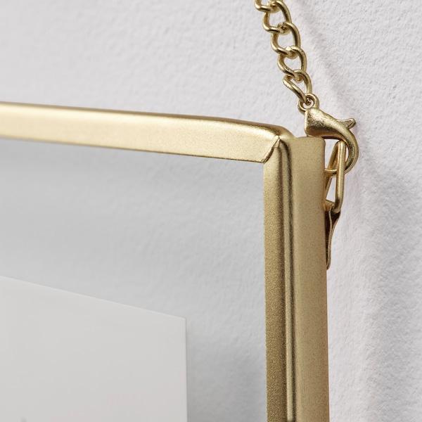LERBODA Frame, gold-colour, 16x16 cm