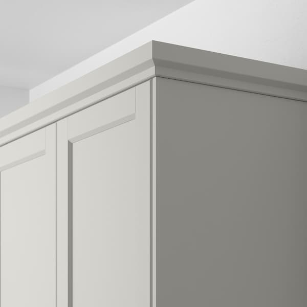 LERHYTTAN Deco strip, contoured edge, light grey, 221 cm