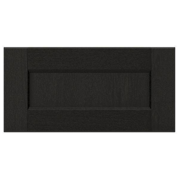LERHYTTAN Drawer front, black stained, 40x20 cm