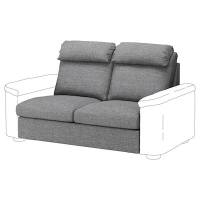 LIDHULT 2-seat sofa-bed section, Lejde grey/black