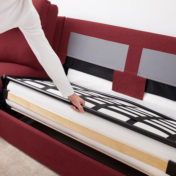 LIDHULT corner sofa-bed, 5-seat Lejde red-brown 102 cm 76 cm 98 cm 294 cm 275 cm 7 cm 53 cm 45 cm 140 cm 200 cm