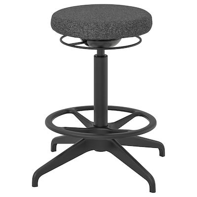 LIDKULLEN Active sit/stand support, Gunnared dark grey