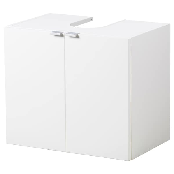 LILLÅNGEN Wash-basin base cabinet w 2 doors, white, 60x38x51 cm