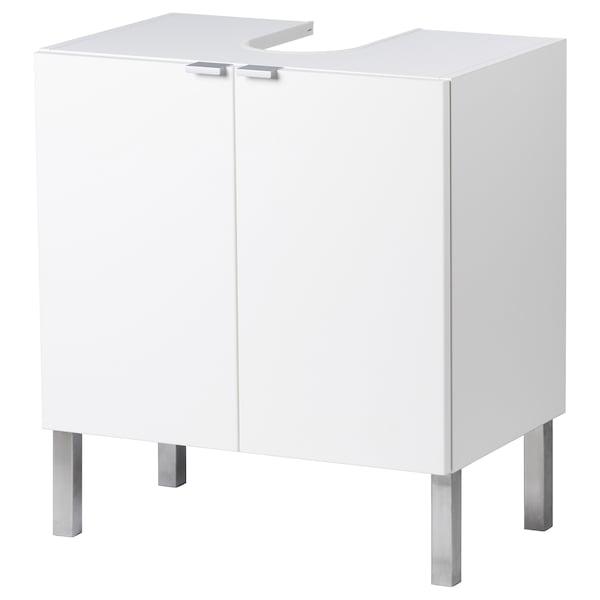 LILLÅNGEN Washbasin base cabinet with 2 door, white, 60x38x67 cm