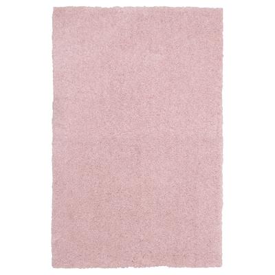 LINDKNUD Rug, high pile, pink, 60x90 cm