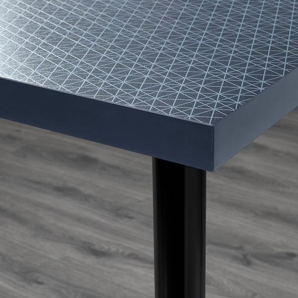LINNMON / ADILS table geometric blue/black 120 cm 60 cm 74 cm 50 kg
