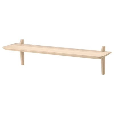 LISABO Wall shelf, ash veneer, 118x30 cm
