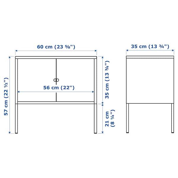 LIXHULT Cabinet, metal/grey, 60x35 cm