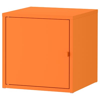 LIXHULT cabinet metal/orange 35 cm 35 cm 35 cm