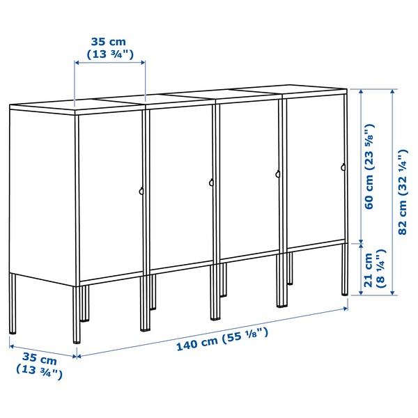 LIXHULT Storage combination, anthracite, 140x35x82 cm