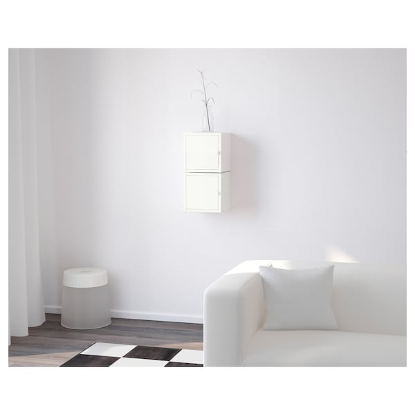 LIXHULT Storage combination, white/white, 25x25x50 cm