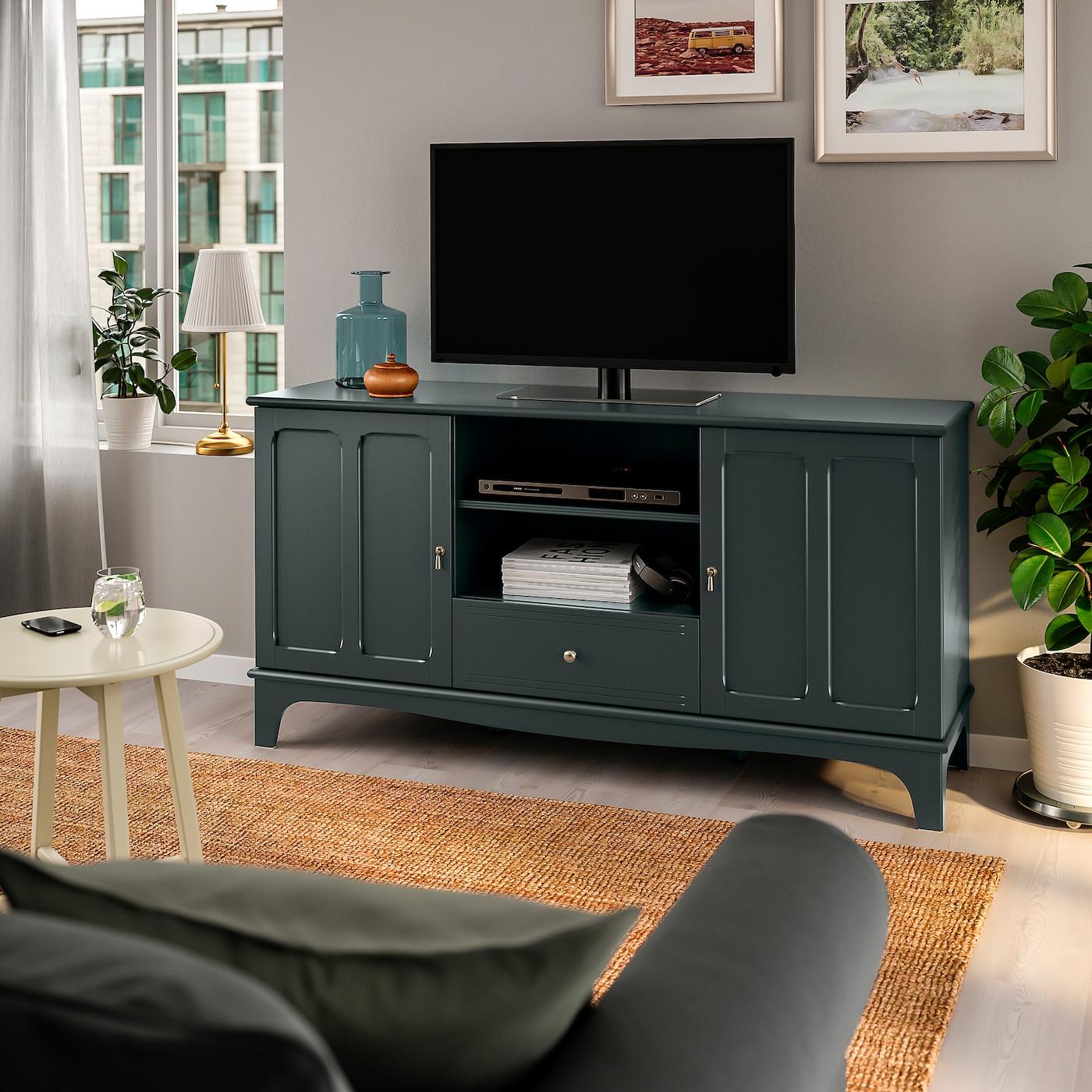 Lommarp Tv Bench Dark Blue Green 159x45x81 Cm Ikea