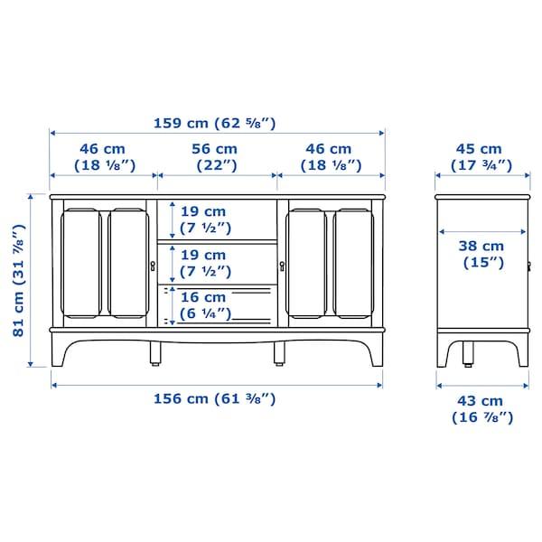 LOMMARP TV bench, dark blue-green, 159x45x81 cm
