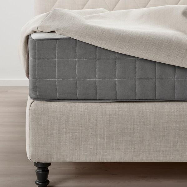 LOMMEDALEN Divan bed, Hövåg firm/Tuddal SKIFTEBO light beige, 180x200 cm