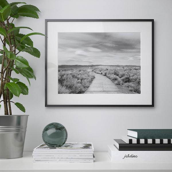 LOMVIKEN Frame, black, 40x50 cm