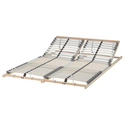 LÖNSET Slatted bed base, adjustable, 140x200 cm